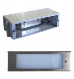 Stainless Steel Premium LED Open Face Large Recessed Step Light w/ Galvanized Steel Housing