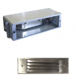 Stainless Steel Premium LED Louver Face Large Recessed Step Light w/ Galvanized Steel Housing